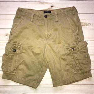 American Eagle Khaki Classic Cargo Shorts 32
